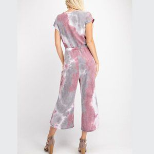 1.4.3. Story by Line Up Pants & Jumpsuits - Tie Dye Washed French Terry Jumpsuit